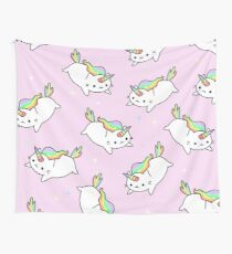 Tela decorativa Rainbow Unicorn Cat Cute