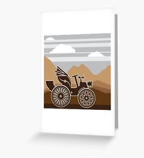 Vintage first auto Greeting Card