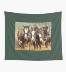 Clydesdale Conversation Tapestry