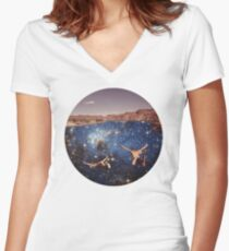 Dive In Women's Fitted V-Neck T-Shirt