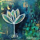 Tiny Work - Lotus Flower  by Kristen Fagan