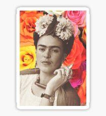 Frida Kahlo Roses Sticker