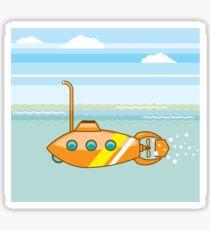 Orange Submarine Sticker