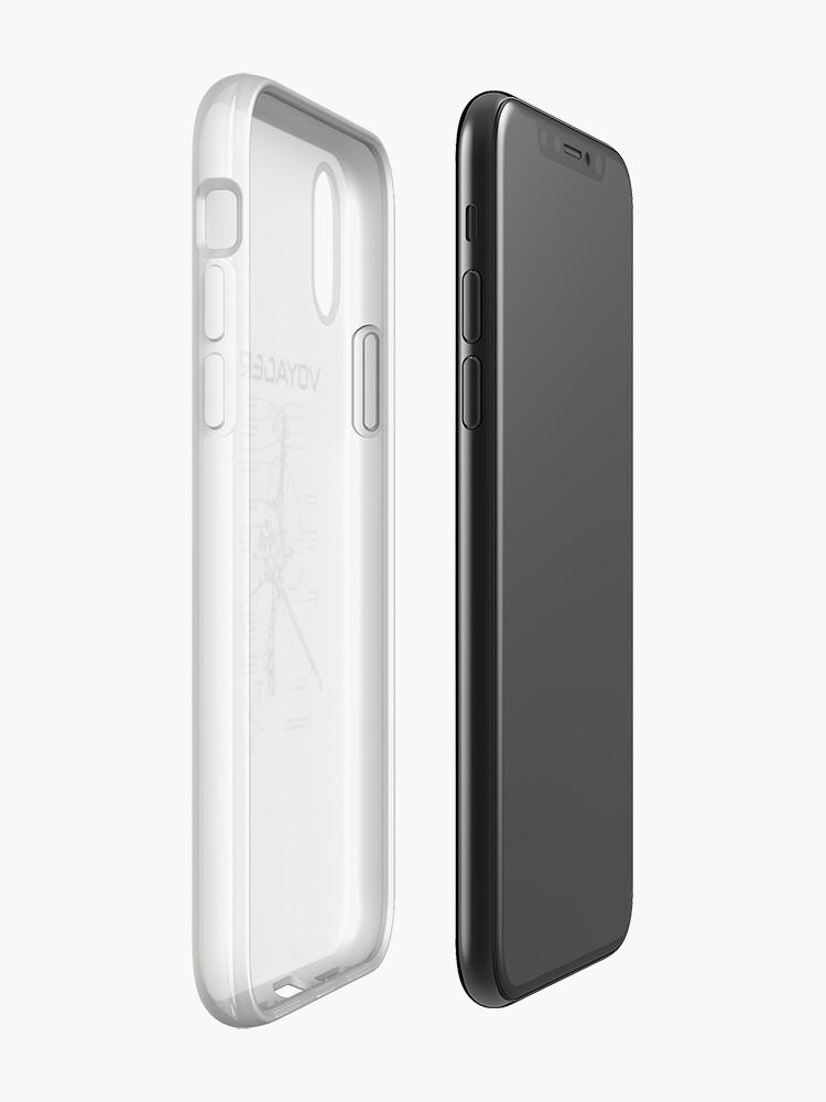 Alternative Ansicht von Voyager Programm - Schwarze Tinte iPhone-Hülle & Cover