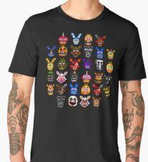 NEW - FNAF Multiple Animatronics - (Dec 2016) - Pixel art Men's Premium T-Shirt