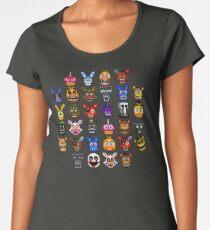 NEW - FNAF Multiple Animatronics - (Dec 2016) - Pixel art Women's Premium T-Shirt