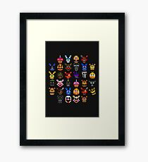 NEW - FNAF Multiple Animatronics - (Dec 2016) - Pixel art Framed Print