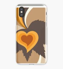 Leaf heart abstract iPhone Case/Skin