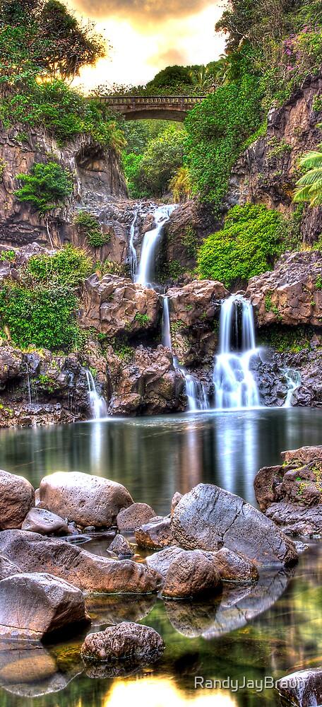 'Oheo Twilight, Kipahulu, Maui by Randy Jay Braun