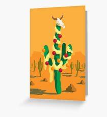 Fröhlicher Kaktus Grußkarte
