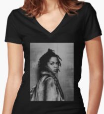 Lauryn  Women's Fitted V-Neck T-Shirt