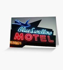 Blue Swallow Motel Neon Tucumcari Greeting Card