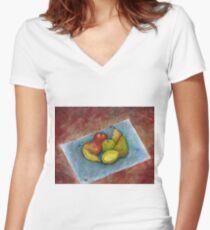 Fruit Picnic Women's Fitted V-Neck T-Shirt