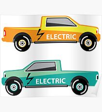 Electric truck Poster