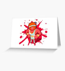 Brutes.io (Gymbrute Baller Red) Greeting Card