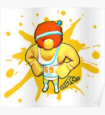 Brutes.io (Gymbrute Baller Yellow) Poster