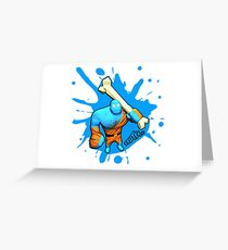 Brutes.io (Brute Caveman Blue) Greeting Card