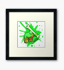 Brutes.io (Brute Caveman Green) Framed Print