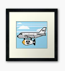 Nuclear bomb under the plane Framed Print