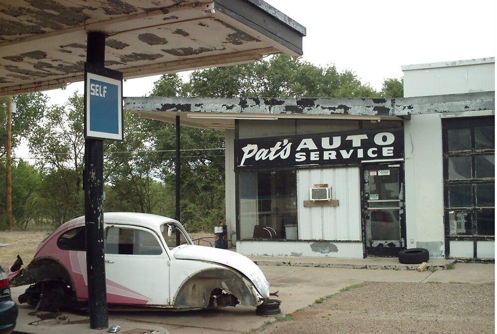 Self Serve Garage On The Way Into Tucumcari by Paul Butler