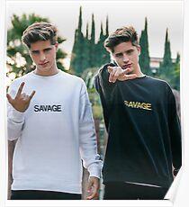 savage rock twins  Poster