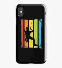 Rainbow Rock Climbing Distressed iPhone Case/Skin