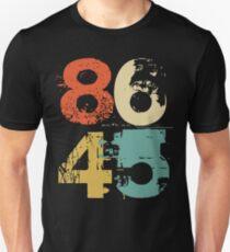 8645 Impeach Trump, 86 45,  Vintage Retro Old School Distressed Resistance Design T-Shirt