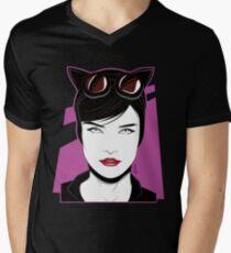 Cat Woman - Nagel Style Men's V-Neck T-Shirt