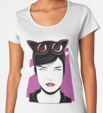 Cat Woman - Nagel Style Women's Premium T-Shirt