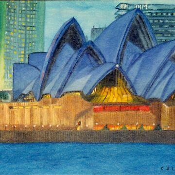 Lilac Lady, Sydney Opera House. by chrisjoy