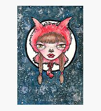 Little Red the wolf girl. Photographic Print