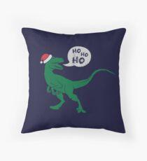 Ho Ho Ho - Merry Raptor-Mas Throw Pillow