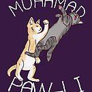Muhamad Paw-li Cat Pun Shirt by zachsymartsy