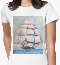 Sailing The Oceans Womens Fitted T-Shirt
