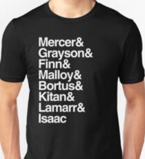 The Orville characters list Unisex T-Shirt