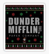 The Office Christmas Ugly Sweater - Dunder Mifflin  Sticker