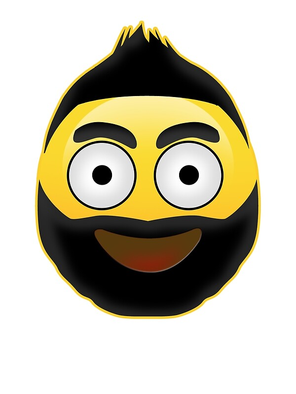 Quot Emoji Mohawk And Beard Quot Posters By Hippocollection