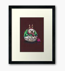 Holiday Sweater Crochet Critter Framed Print