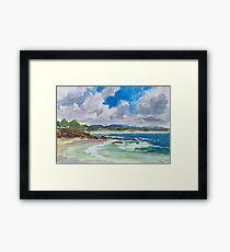 Bartletts Beach 1 - plein air Framed Print