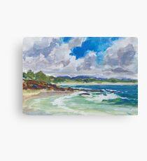 Bartletts Beach 1 - plein air Canvas Print