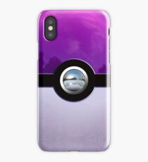 Gengar Monster Purple Pokeball iPhone Case/Skin