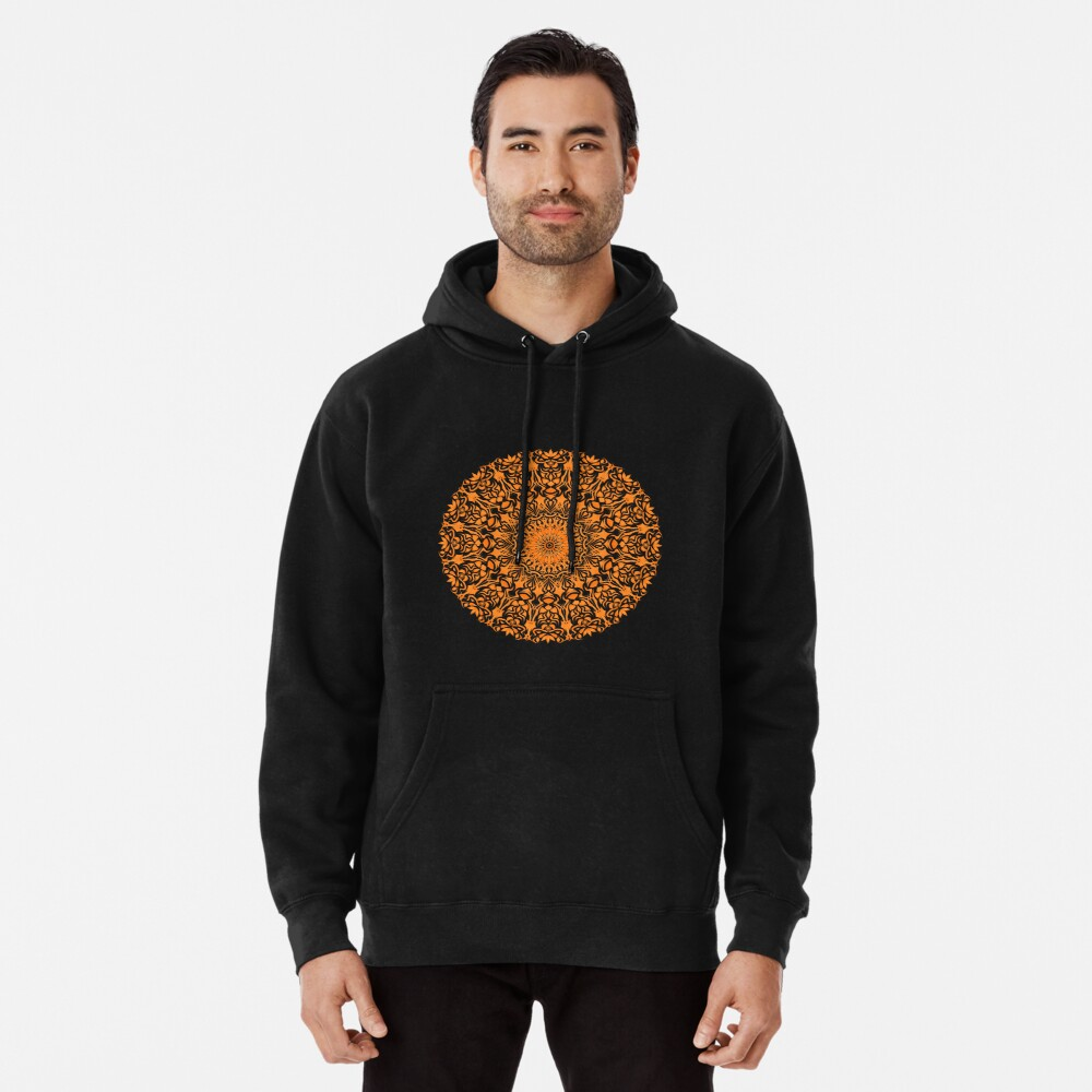Tribal Mandala Orange Hoodie