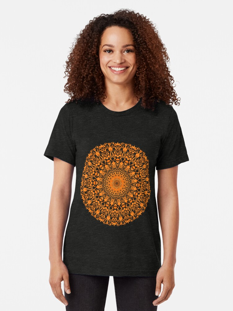 Alternative Ansicht von Tribal Mandala Orange Vintage T-Shirt