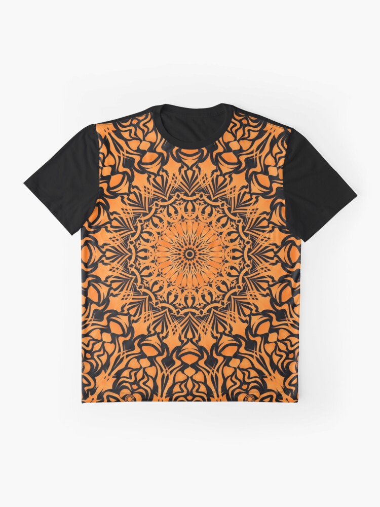 Alternative Ansicht von Tribal Mandala Orange Grafik T-Shirt