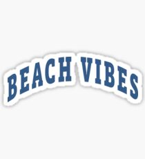 Beach Vibes Capital Sticker