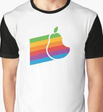 Pear Apple Parody Funny Retro Graphic T-Shirt