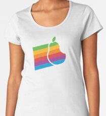 Pear Apple Parody Funny Retro Women's Premium T-Shirt