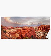 Kodachrome Basin State Park Panorama at sunset Poster