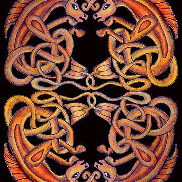 Celtic Kelpies by sharpie