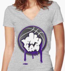 Jelly Fam Team Women's Fitted V-Neck T-Shirt